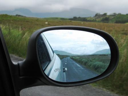 Регулировка правого бокового зеркала