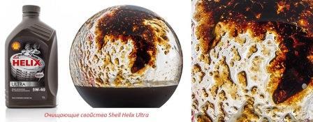 Очищающие свойства Shell Helix Ultra