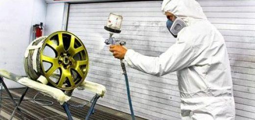 Восстановление лакокрасочного слоя дисков на специальном оборудовании